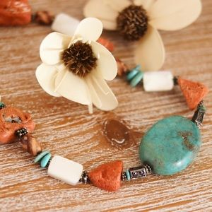 Jewelry - Turquoise & MOP Rock Sterling Necklace